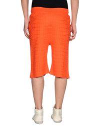 Kris Van Assche - Orange Bermuda Shorts for Men - Lyst