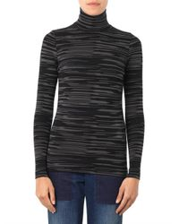 Stella McCartney - Blue Melange-Knit Roll-Neck Sweater - Lyst