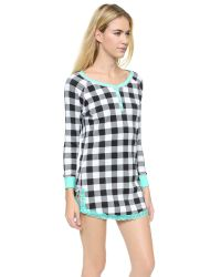 Honeydew Intimates - Black Henley Dew Thermal & Rib Sleepshirt - Solid Cumulus - Lyst