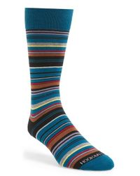 Hook + Albert | Yellow Stripe Socks for Men | Lyst