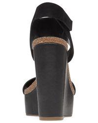 Vince Camuto | Black Kaja Platform Wedge Sandals | Lyst
