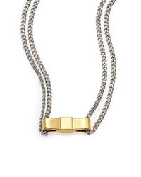 Marc By Marc Jacobs | Metallic Baby Bow Tie Pendant Necklace | Lyst