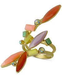 Guess | Gold-tone Dapped Multicolor Ring | Lyst