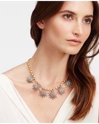Ann Taylor - Metallic Starburst Necklace - Lyst