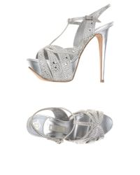 Gina | Metallic Sandals | Lyst