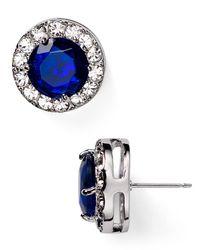 kate spade new york | Blue Basket Pave Stud Earrings | Lyst