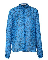 Dorothee Schumacher | Blue Crepe Inspiration Points Top | Lyst