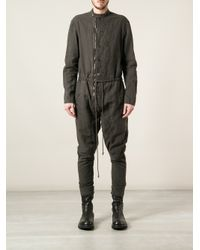 Lost & Found - Gray Tuta Jumpsuit for Men - Lyst