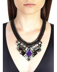 Nocturne - Black Azia Crystal Embellished Necklace - Lyst