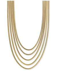 Vince Camuto | Metallic Multi-layer Snake Link Chain Necklace | Lyst