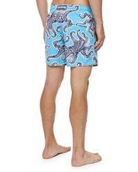 Vilebrequin - Blue Moorea Octopus-print Swim Trunks for Men - Lyst
