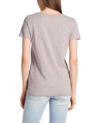 BOSS Orange - Gray Cotton T-Shirt 'Teosina' - Lyst