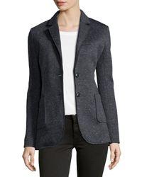 ATM - Black Bonded Knit Speckled Blazer - Lyst