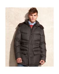 Vince Camuto | Brown Removable Hood Flannel Anorak for Men | Lyst