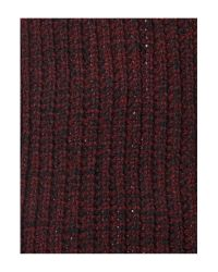 Label Lab - Red Chunky Twist Knit Scarf for Men - Lyst