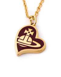 Vivienne Westwood | Purple Orb Heart Pendant Necklace | Lyst