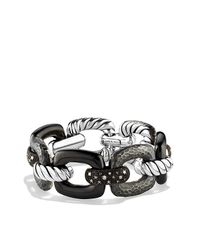 David Yurman | Metallic Midnight Mélange Link Bracelet With Diamonds | Lyst