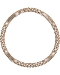 Saint Laurent | Metallic Crystal Cocktail Choker Necklace | Lyst