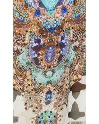 Camilla - Multicolor Short Lace Up Kaftan - Lyst