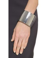 Kenneth Jay Lane - Metallic Thick Cuff Bracelet - Silver - Lyst