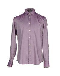 Del Siena | Purple Shirt for Men | Lyst