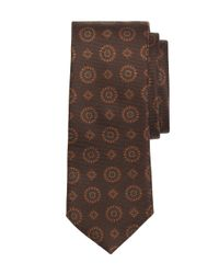 Brooks Brothers - Brown Ancient Madder Medallion Tie for Men - Lyst