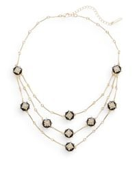 Saks Fifth Avenue | Metallic Pavé Disc Bib Necklace | Lyst