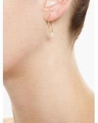 Asherali Knopfer   Metallic Gold Interchangeable 'lou' Hoop Earring   Lyst