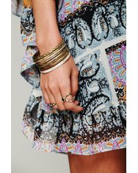 Free People | Metallic Magic Garden Party Dress | Lyst