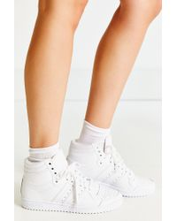 Adidas | White Top Ten Hi Sneaker | Lyst