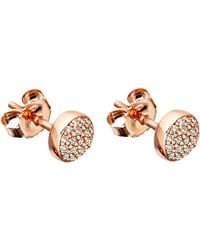 Astley Clarke | Pink 14ct Rose-gold And Diamond Mini Icon Earrings | Lyst