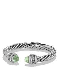 David Yurman - Metallic Crossover Bracelet With Prasiolite & Diamonds - Lyst