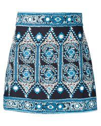 Sea - Black Embroidered Mini Skirt - Lyst