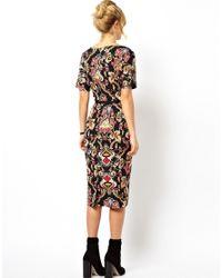 ASOS - Multicolor Wiggle Dress In Baroque Print - Lyst