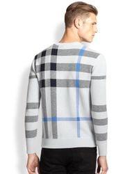 Burberry Brit - Blue Redbury Check Sweater for Men - Lyst