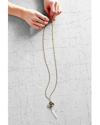 Urban Outfitters - Metallic Prism Chimes Double Pendant Necklace - Lyst