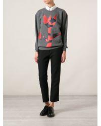 Stella McCartney - Gray Flower Pattern Sweatshirt - Lyst