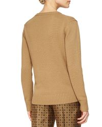 Michael Kors - Brown Cashmere V-neck Sweater - Lyst