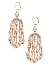 kate spade new york | Metallic 'pearls Of Wisdom' Chandelier Earrings - Blush Multi | Lyst