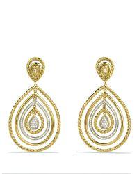 David Yurman - Metallic Mobile Drop Earrings With Diamonds In 18k Gold - Lyst