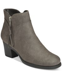 Aerosoles | Gray Acrobatic Ankle Booties | Lyst