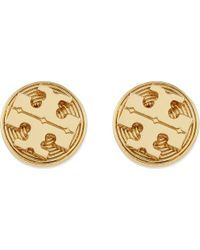 Tory Burch - Metallic Livia Stud Earrings Shiny Brass - Lyst