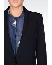 Armani Jeans - Blue Jacket In Viscose Blend - Lyst