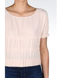 Emporio Armani - Pink Short-sleeved Top - Lyst