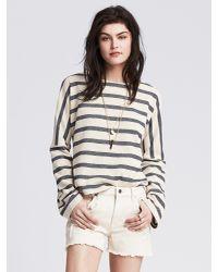 Banana Republic | Blue Striped Pique Sweatshirt | Lyst