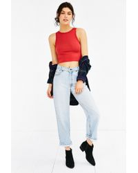 Truly Madly Deeply - Red V-back Cropped Tank Top - Lyst