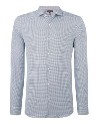 Michael Kors | Blue Ace Slim Fit Check Shirt for Men | Lyst