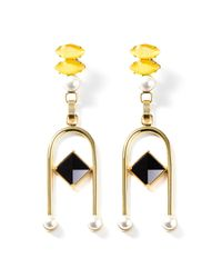 Volha   Yellow Onyx Suspended Earrings   Lyst