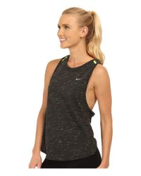 Nike   Gray Dri-fit™ Tailwind Neon Slub Tank Top   Lyst