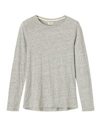 Toast | Gray Long Sleeve Slub Tee | Lyst